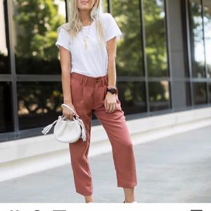 Knot sisters rust color pants